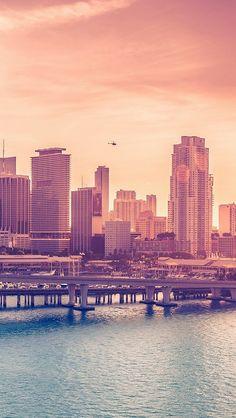 City Skyline Bridge Sunset iOS8 #iPhone #5s #wallpaper