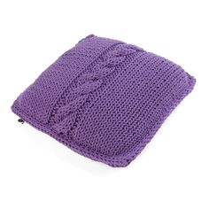 LAVENDER BRAID pillow - Ohoo!  Usage of knitted fabrics is a trend in interior design that has an unceasing popularity.