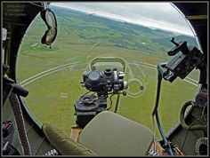 The View From The Nose of a B-17 -- Features once top secret Norden Bombsight