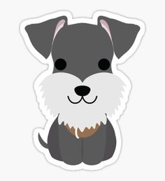 High quality Schnauzer gifts and merchandise. Inspired designs on t-shirts, posters, stickers, home decor, and more by independent artists and designers from around the world. Face Stickers, Cool Stickers, Printable Stickers, Laptop Stickers, Schnauzer Art, Homemade Stickers, Tumblr Stickers, Cute Animal Drawings, Aesthetic Stickers