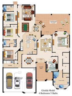 After eliminating bedroom #4 FLOORPLAN!