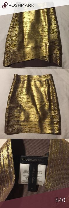 BCBGMaxazria Gold and Maude Asymmetrical Skirt BCBGMaxazria Gold and Maude Asymmetrical Skirt BCBGMaxAzria Skirts Mini