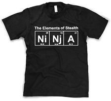 periodic tablr ninja shirt | Element of Stealth T Shirt funny ninja shirt ninjas t science tshirt