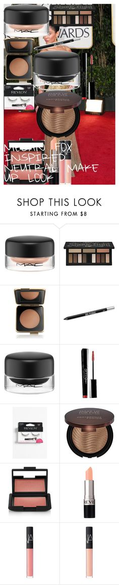 """MEGAN FOX INSPIRED NEUTRAL MAKE UP LOOK"" by oroartye-1 on Polyvore featuring beauty, MAC Cosmetics, Kat Von D, Estée Lauder, Urban Decay, Maybelline, Revlon, MAKE UP FOR EVER and NARS Cosmetics"