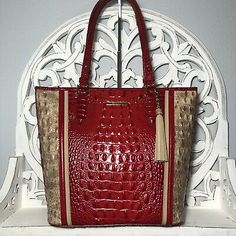 Brahmin Asher Tote Ember Fuego Melbourne Leather | eBay