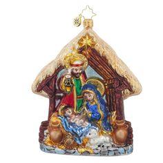 Christopher Radko Joyful Night Nativity Ornament #1017782