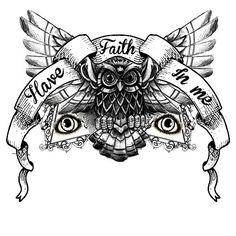 Chest piece tattoo.