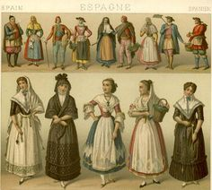 Costumes of 18-19th Century Rural Spain