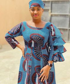 African Fashion Ankara, African Dress, Straight Dress, Fashion Outfits, Fashion Clothes, Gowns, Formal Dresses, Chic, Sleeves