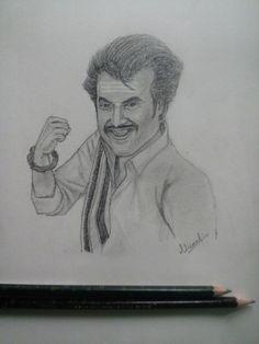 Pencil portrait... Thalivar art