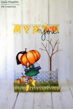 My creations: Harvest time or this big pumpkin for you card