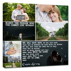 Decorate your home with photos on canvas that tell the story of your love