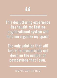 Decluttering truth.