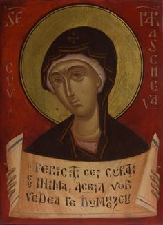 Parascheva by Gabriel Toma Chituc St P, Byzantine Icons, Orthodox Christianity, Orthodox Icons, Gabriel, Images, Spirituality, Saints, Artwork