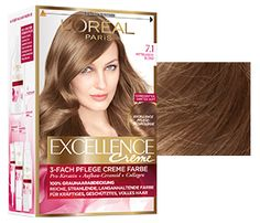 Excellence Creme L´Oréal Paris  Mix 7 with 7.1 and get an ashy result