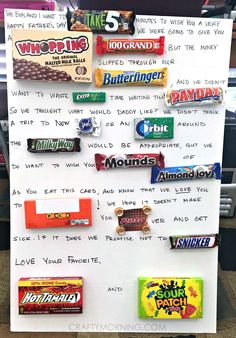 Father's Day candy c