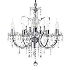 Elegant Crystal Chandelier with 5 Lights – USD $ 289.99