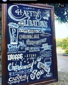 Chalkboard Invitation, Menu Chalkboard, Bar Menu, Sparkling Wine, Chalk Art, Wedding Signs, Brewing, Ale, Instagram Wedding