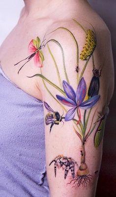 Many of those tattoos began as paintings, Amanda Wachob.