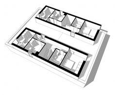Dvojdomek Duplex Design, House Design, Double House, Creative Home, Home Projects, Townhouse, House Plans, Twin, Future House