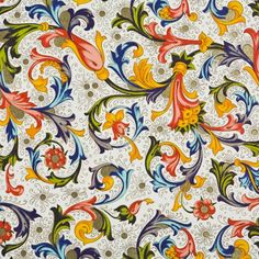 Fiorenza Classica Italian Wrapping Paper  I've been drawn to this happy, colorful pattern since I was a girl.