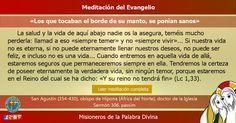 """MISIONEROS DE LA PALABRA DIVINA: MEDITACIÓN DEL EVANGELIO - """"Los que tocaban el bor..."""