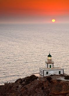 coiour-my-world: Akrotiri Lighthouse, Santorini, Greece ☆brezzamarina☆