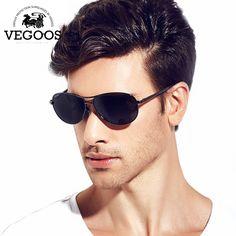 bb92f0afba Encontrar Más Gafas de Sol Información acerca de Vegoos clásicas planas de  pilotos Sunglasses Men