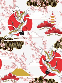 Japanese style illustration, Japan, Illustration PNG and Vector Japanese Drawings, Japanese Artwork, Japanese Painting, Japanese Prints, Japanese Design, Japanese Style, Japanese Geisha, Japanese Kimono, Japan Illustration