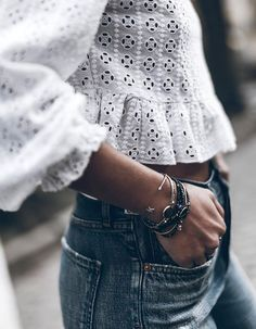 Denim + lace. More
