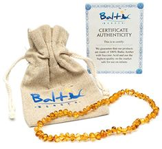 Baltic Amber Teething Necklace For Babies (Unisex) (Honey) - Anti Flammatory, Drooling & Teething Pain Reduce Properties - Natural Certificated Oval Baltic Jewelry with the Highest Quality Guaranteed. Easy to Fastens with a Twist-in Screw Clasp Mothers Approved Remedies! Baltic Wonder http://www.amazon.com/dp/B00M5CMRNE/ref=cm_sw_r_pi_dp_BnkAvb1MQN0PH