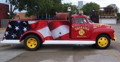 Custom Truck Wraps Installed On An Antique Fire Truck For Taco Casa In Dallas...