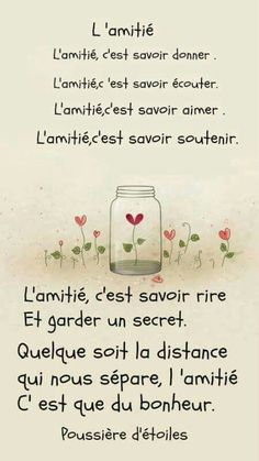 Super ideas for quotes friendship friends words Best Friend Quotes, New Quotes, Funny Quotes, Inspirational Quotes, The Words, More Than Words, French Poems, French Quotes, Quotes Distance