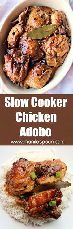 slow cooker chicken adobo chicken slowly braised in vinegar soy sauce ...