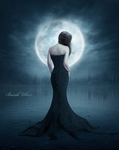 Solitude by BurakUlker on DeviantArt Gothic Fantasy Art, Beautiful Fantasy Art, Romantic Goth, Dark Gothic, Moon Goddess, Moon Art, Moon Child, Dark Beauty, Photo Manipulation