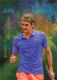 Roger Federer 2016 Calendar by Samuil Streltsov