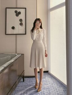 Korean Fashion Work, Korea Fashion, Asian Fashion, Teen Fashion Outfits, Modest Fashion, Chic Outfits, Sunmer Dresses, Conservative Outfits, Ulzzang Fashion