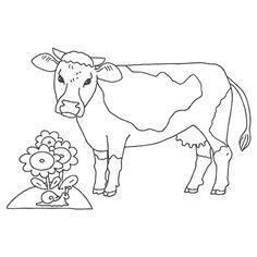 kuh ausmalbild 10 | dorf | ausmalbild kuh, ausmalbilder
