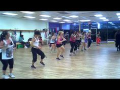"""Zumba """"Party Rock Anthem"""" -Love the instructor, looks like he's having a blast!"""