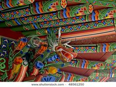 Korean temple design -- I miss looking up at this