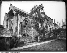 The north side of the nave at Greyfriars, Greyfriars Walk, Gloucester, Gloucestershire Date: 1910 - 1950 Photographer: Sydney A Pitcher Photographer Sydney, Historical Images, Gloucester, England, English