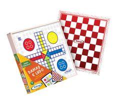 6021.0 - Damas e Ludo   Faixa Etária: +6 anos   Medidas: 31 x 4 x 31 cm   Jogos e Brinquedos   Xalingo Brinquedos   Crianças