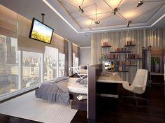 Abiertamente opulento: ático Glorious con vistas tremendas ha elegancia estampado en todo su interior