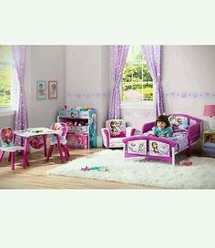 Disney Frozen Anna Elsa Decals Plastic Kids Girls Safety Guardrails Toddler  Bed   BUY NOW ONLY