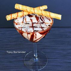 Monkey Business Cocktail - For more delicious recipes and drinks, visit us here: www.tipsybartender.com