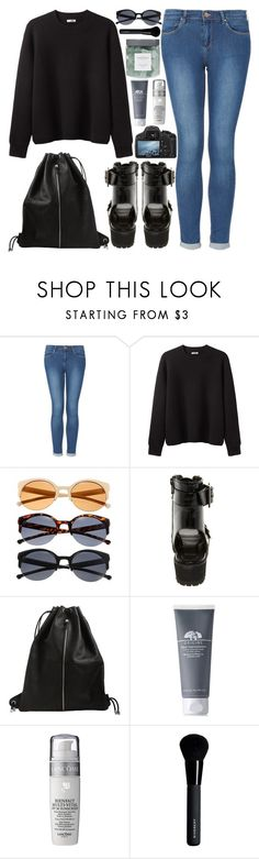 """219. Uni Outfit"" by ass-sass-in ❤ liked on Polyvore featuring Topshop, Acne Studios, ASOS, Pieces, Origins, Lancôme, Givenchy and Threshold"