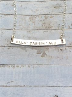 Gifts For Mum, Hand Stamped, Personalized Gifts, Arrow Necklace, Sterling Silver, Chain, Birthday, Jewelry, Birthdays