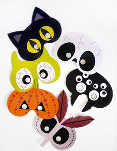 These Free Printable Masks Are About as Lazy as Halloween Costumes Can Get « Halloween Ideas