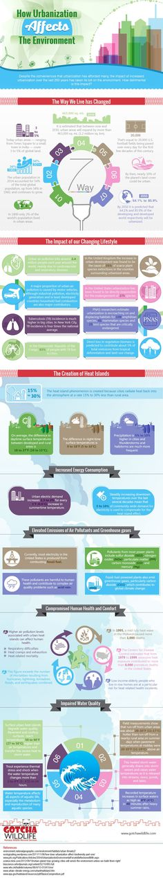 Check out this infographic to learn more about how urbanization is rapidly changing our environment.