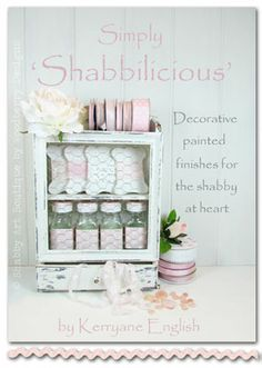 This eBook 'Simply Shabbilicious' by Kerryanne English shows shabby transformations and covers everything from finding your thrift ware to painting, using distress techniques and decorative finishes. Step-by-step instructions and colour photos lead you through a complete transformation project, plus additional information on reverse ink transfers, making your own chalk paint and rusting metal. At just $9.95 it's a must have for anyone who wants to turn used into shabby.